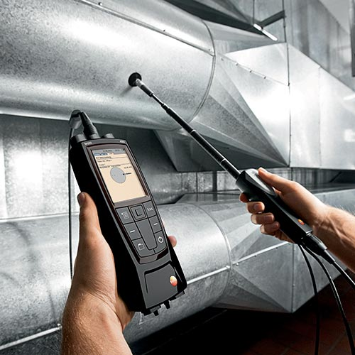Testo anémomètre multifonction, de nombres sone permettent de mesurer la lumière, la vitesse d'air,
