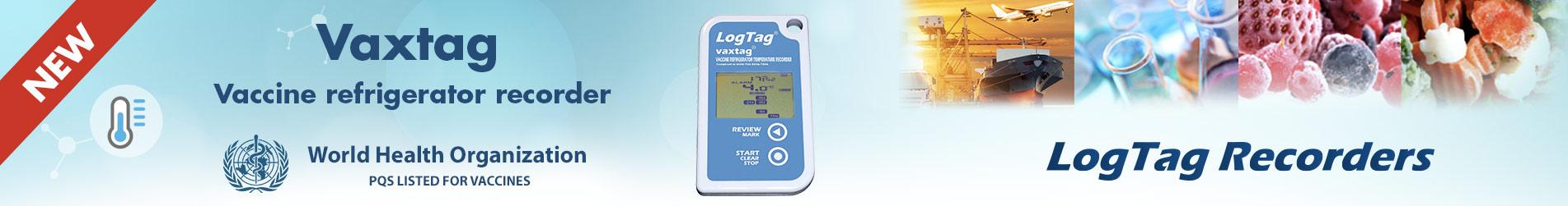 New logtag Vaxtag datalogger