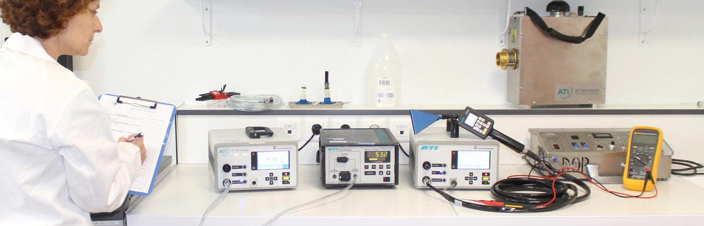 Etalonnage photomètres et générateurs d'aérosols