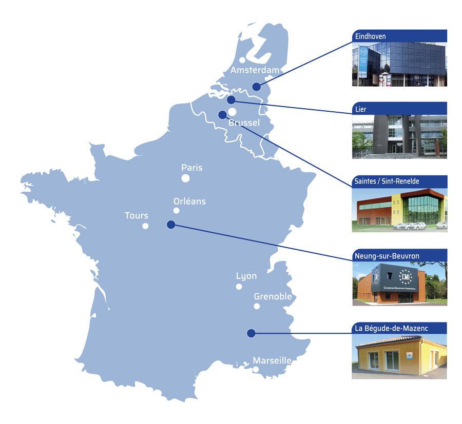 Agences CMI en France